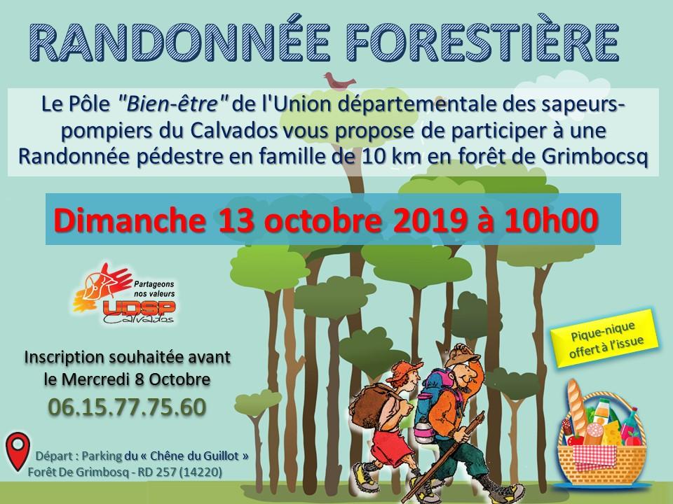 Calendrier Randonnee Pedestre Calvados.Randonnee Forestiere Familiale Union Departementale Des