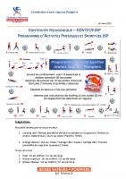 Prépa physique JSP – Confinement