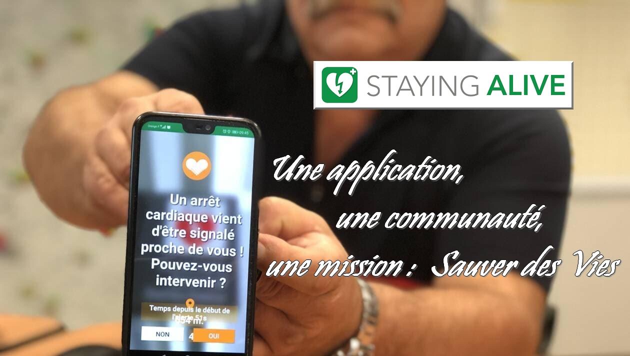 Déploiement de l'Application Smartphone STAYING ALIVE et du Réseau BON SAMARITAIN